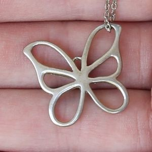 Jewelry - Butterfly Pendant Necklace Sterling Silver